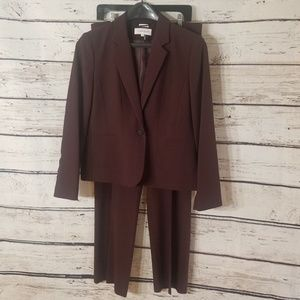 Calvin Klein Burgundy Women's Suit: Jacket & Pants